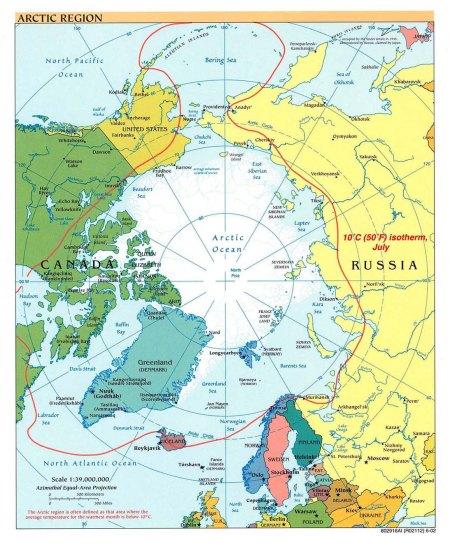 Mapa Politico del Ártico