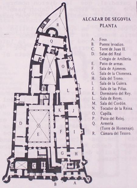 Plano del Alcázar de Segovia