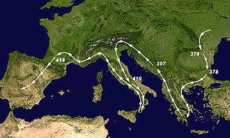 Migraciones visigóticas.