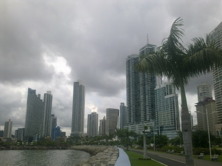 Bahía de Panamá vista desde el extremo este.