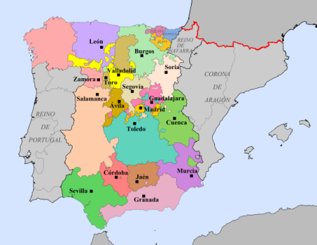 Ciudades con representación en Cortes.