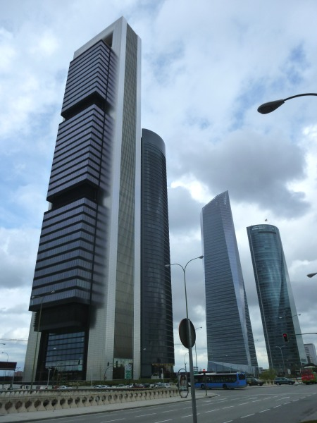 Cuatro Torres Business Area in Madrid (Spain).