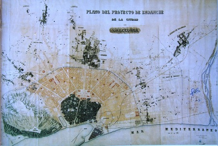 Proyecto de Ensanche de Barcelona de Rovira i Trías.