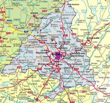 Mapa  de Carreteras de la Comunidad de Madrid
