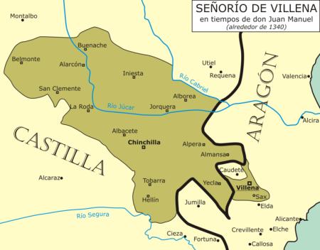 Señorío de Villena en 1340