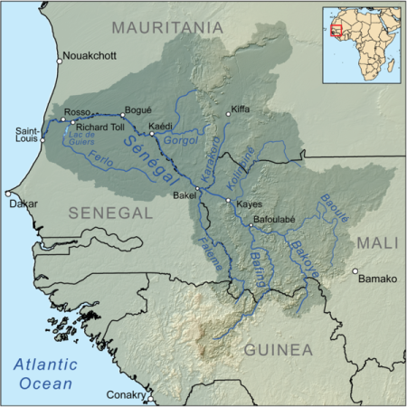 Senegal river map
