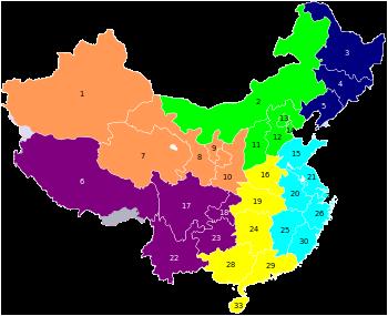 Regionalización de China