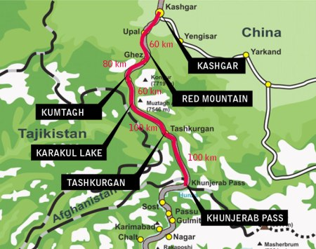 Karakoram-Highway-Map