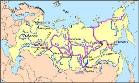 Rutas transiberianas exploración rusa
