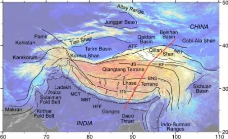 Tibet superficie