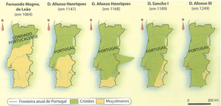 Portuguese Reconquista Map