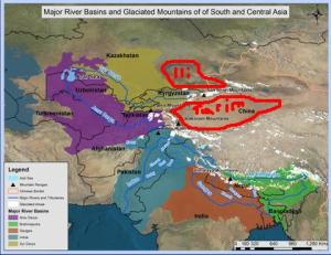 Cuencas Indus, Oxus, Yaxartes, Tarim, Ili y Ganges