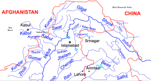 Kabul River Map