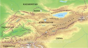 kyrgyzstan-map-physical