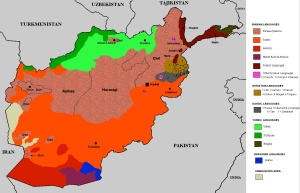 Linguistic map of Afghanistan