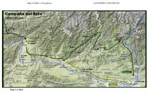 Rutas de Alejandro en Asia central 4.