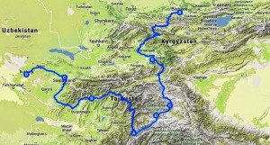 Summer 2014 Route with Relief