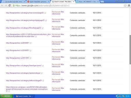 pantallazo google webmasters