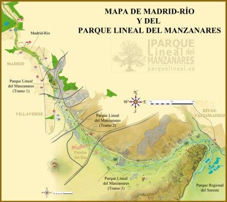 mapa-parque-lineal-del-manzanares-y-madrid-rio