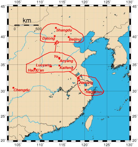 historicalcapitalsofchina_ancient